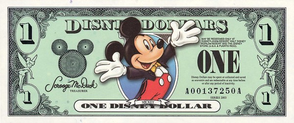 Disney World Park Hopper Ticket