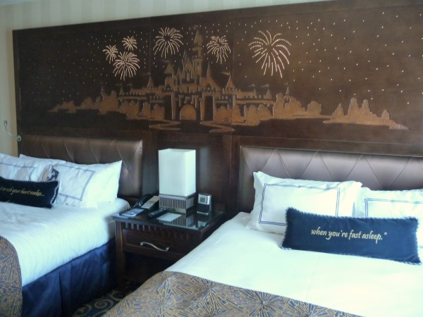 the rooms at The Disneyland Hotel