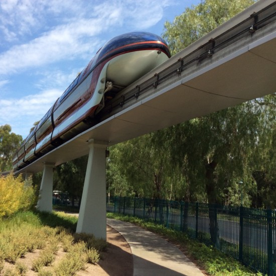 monorail at Disneyland