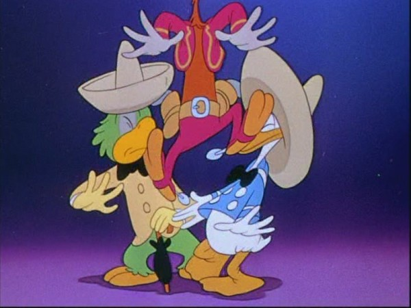 Donald, Jose, and Panchito from The Three Caballeros movie