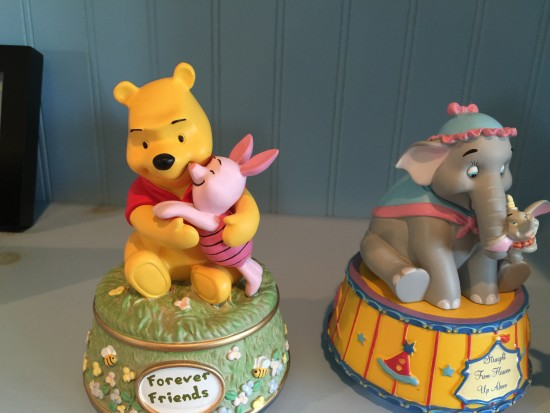 """winnie the pooh and piglet and Mrs. Jumbo with Dumbo"""