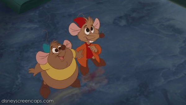 Jaque and Gus from The Disney movie Cinderella
