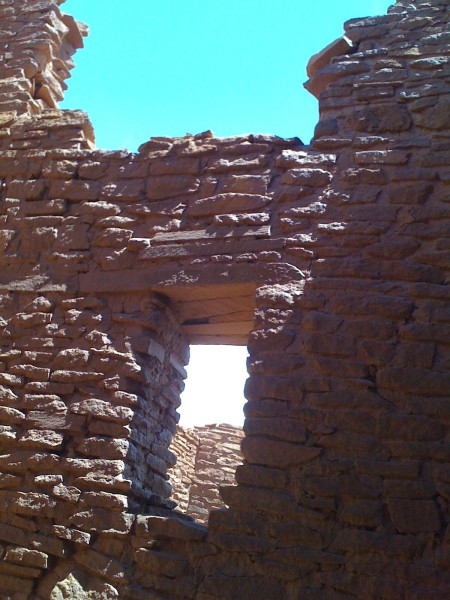 the Wupatki ruins in arizona
