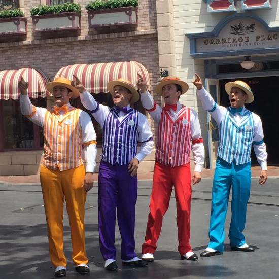 Dapper Dans on Main Street USA disneyland