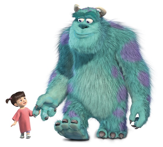 Sully and Boo from Monsters, Inc.