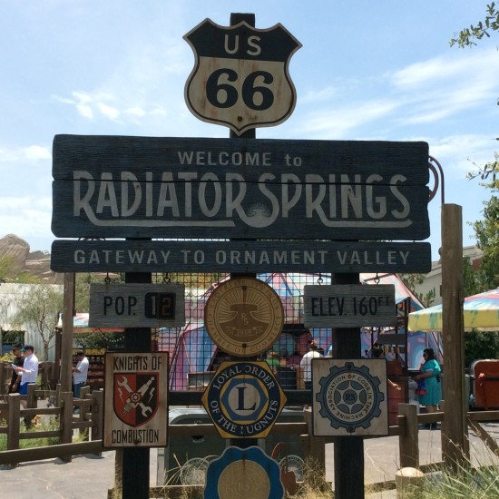 """Cars Land Welcome to Radiator Springs"""