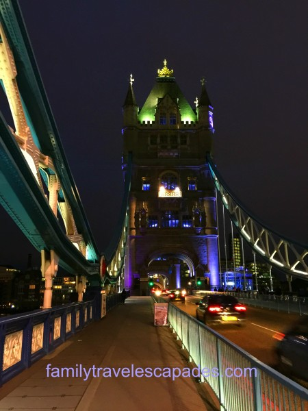 The Tower Bridge of London at night