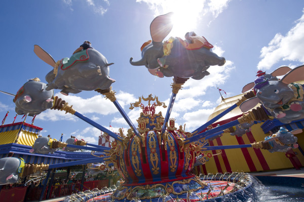 """Dumbo's Flying Circus, top 10 places at magic kingdom"""