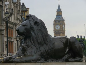 big ben with london lion