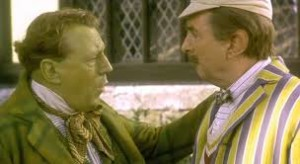 From the right. Terry Jones as Mr. Toad and Eric Idle as Ratty