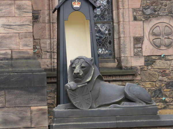 """Lion at Edinburgh Castle"""
