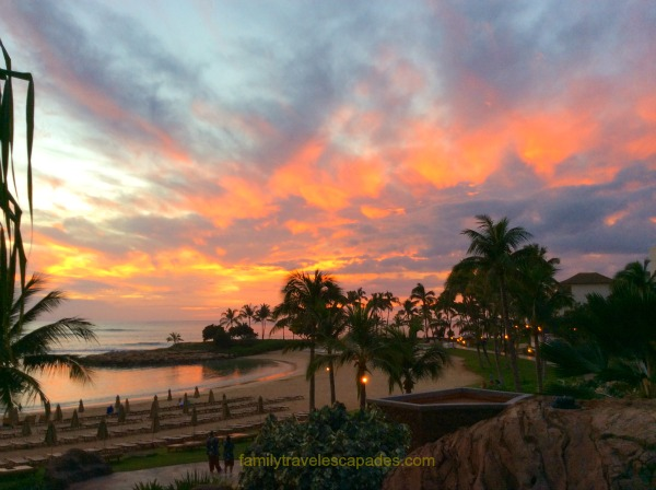 sunset at aulani