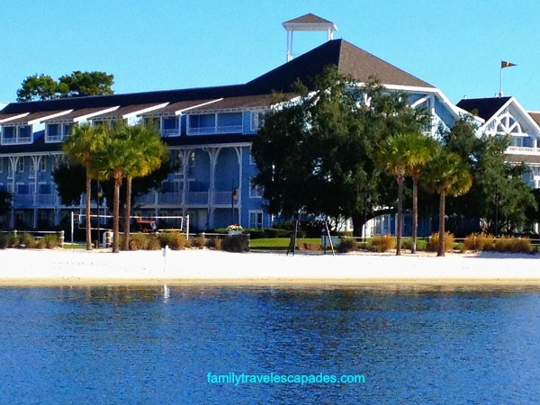 view of the beach club resort from the friendship boat