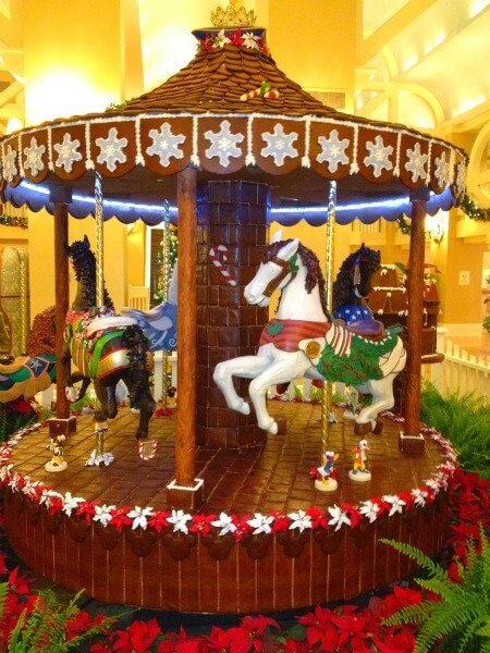 beach club hotel gingerbread carousel