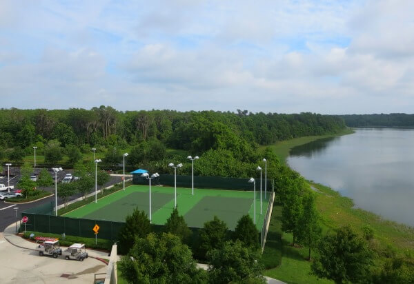 The Bay Lake Tower tennis courts