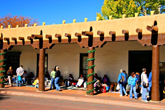 Palace of the Governor (1609) in Santa Fe New Mexico