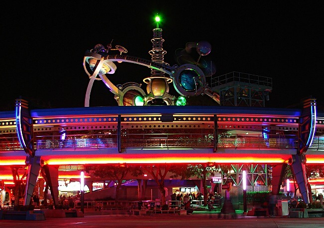 Magic Kingdom Tomorrowland at Night