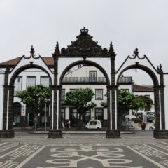Rainy Walk Through Ponta Delgada