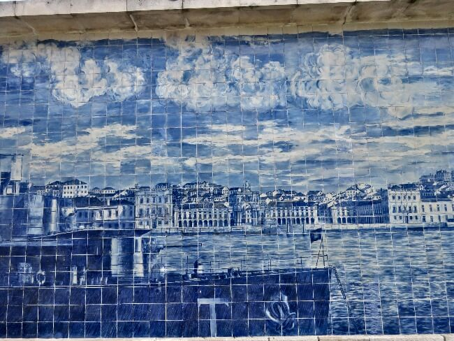 Tile mosaic in Alfama district of Lisbon, Portugal. #travel #Alfama #Lisbon #Lisboa #Portugal