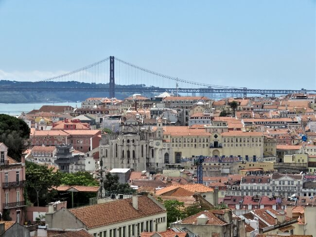 Pont 25 de Abril from the Miradouro da Graca. #travel #Alfama #Graca #Lisbon #Lisboa #Portugal