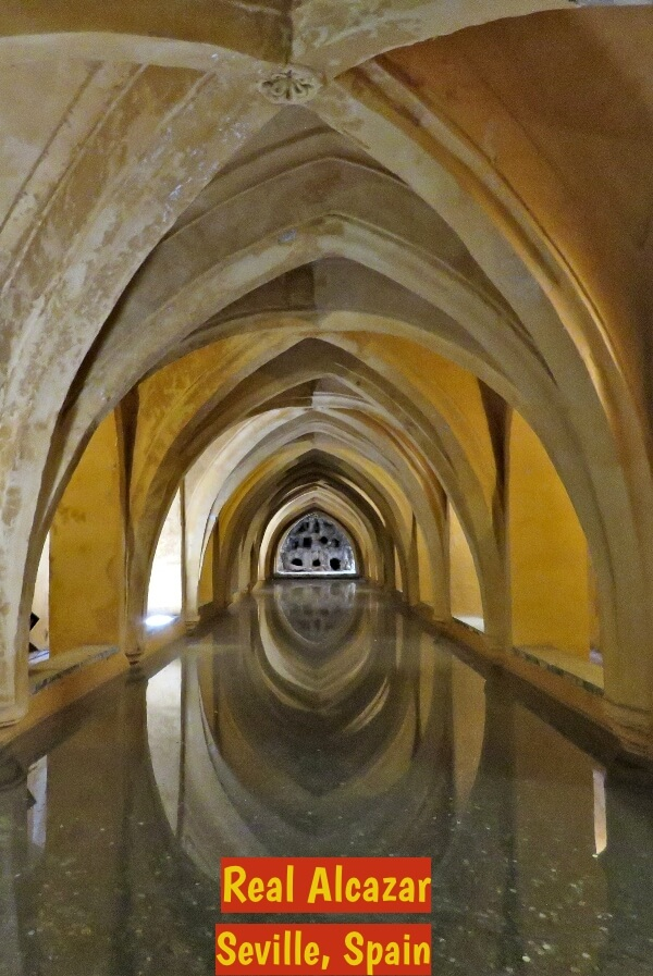 Baths of Maria Padilla in the Real Alcazar, Seville, Spain. #travel #Spain #Seville #RealAlcazar #GoT