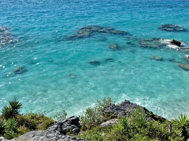 Overlooking the crystal clear Atlantic Ocean in Bermuda #travel #Bermuda #beach #beaches