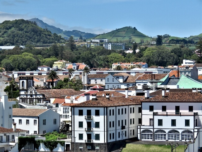 Looking over Ponta Delgada on Sao, Miguel, Azores #travel #Azores #PontaDelgada #SaoMiguel #Portugal