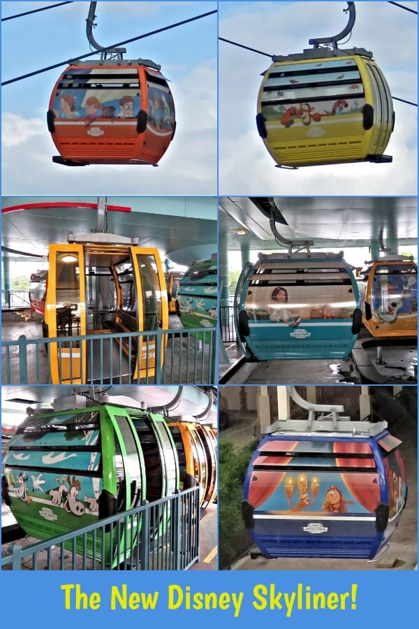 Gondolas of the new Disney Skyliner at Walt Disney World, Florida  #travel #DisneyWorld #WaltDisneyWorld #WDW #DisneySkyliner #Skyliner #Epcot #HollywoodStudios