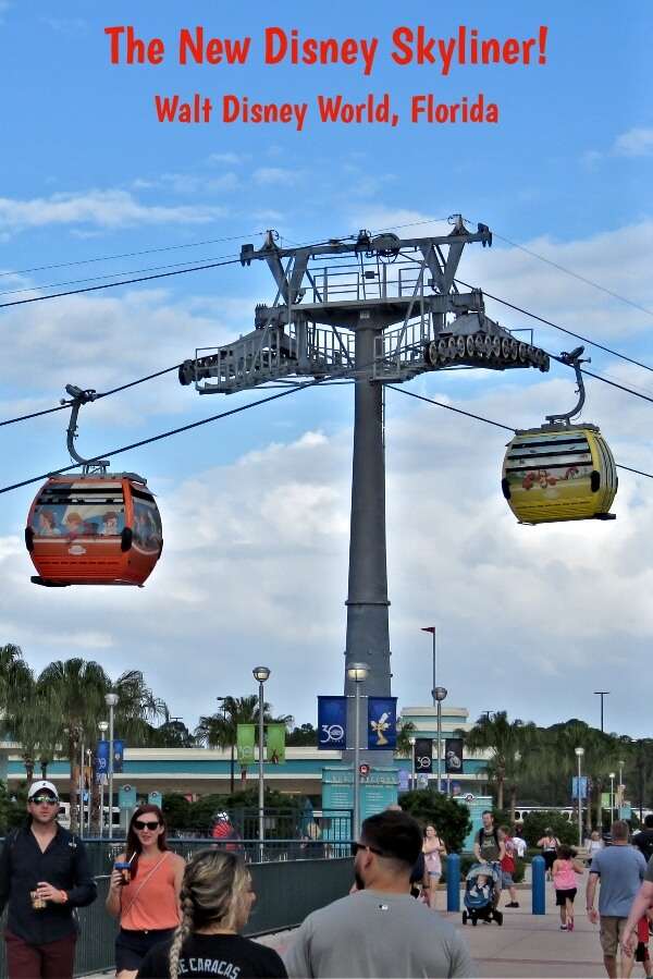 The new Disney Skyliner at Walt Disney World, Florida #travel #Disney #WaltDisneyWorld #WDW #DisneyWorld #DisneySkyliner #Skyliner #Epcot #HollywoodStudios